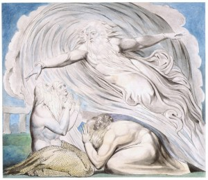 William Blake - The Lord answers Job out of the whirlwind