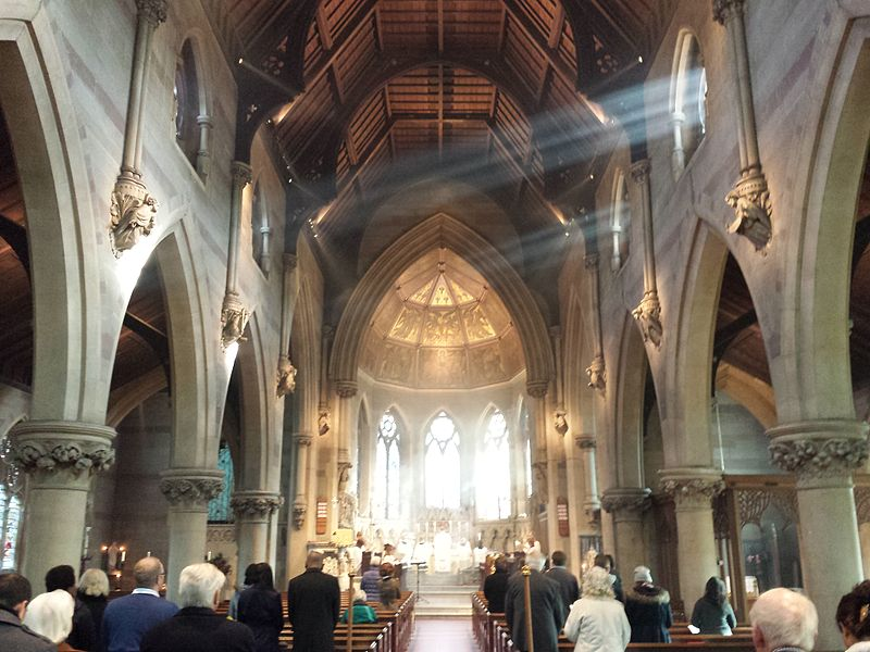 St_Augustine's_Church,_Edgbaston_-_Divine_Service_with_sunbeams