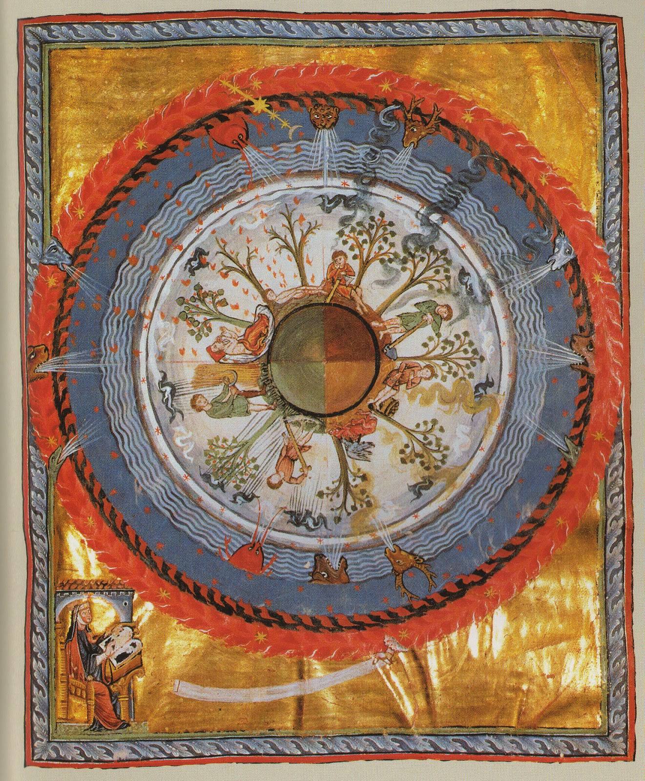 """God who has created all things..."" from Hildegard's Book of Divine Works, Vision IV:."